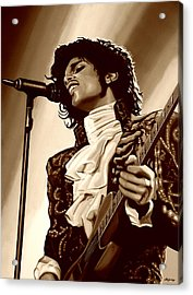 Prince The Artist Acrylic Print by Paul Meijering