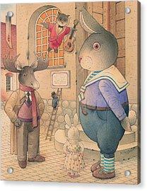 Rabbit Marcus The Great 21 Acrylic Print by Kestutis Kasparavicius