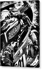 Racing Ducati Monochrome Acrylic Print by Tim Gainey