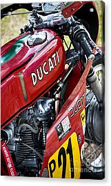 Racing Ducati  Acrylic Print by Tim Gainey