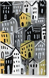 Rainy Day - Expressionist Art Acrylic Print