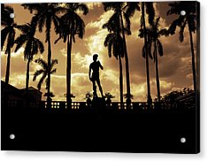 Replica Of The Michelangelo Statue At Ringling Museum Sarasota Florida Acrylic Print by Mal Bray