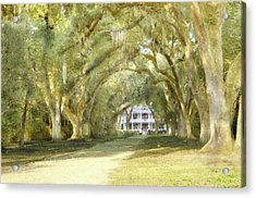 Acrylic Print featuring the photograph  Rosedown Plantation by John Hix