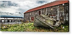 Salmon Cannery Acrylic Print by DMSprouse Art