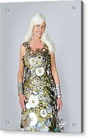 Sara In Clockwork Dragon Dress  Acrylic Print