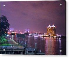 Savannah Riverfront Acrylic Print by Art Spectrum