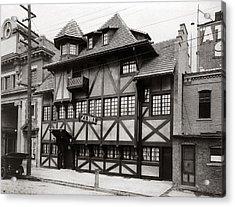 Scranton Pa Zenke's Alt Heidelberg Restaurant Early 1900s Acrylic Print