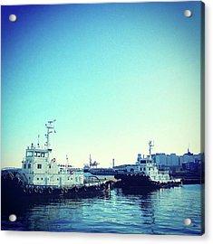 #船 #海 #ships #sea #sky Acrylic Print by Bow Sanpo