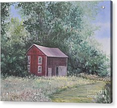 Shortys Shed Acrylic Print by Penny Neimiller