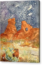 Starry Night In The Desert Acrylic Print