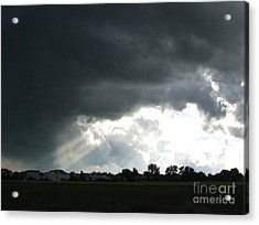 Storm Cloud  Over Westminster Acrylic Print by Nancy Rucker