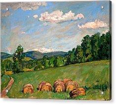 Summer Idyll Berkshires Acrylic Print by Thor Wickstrom