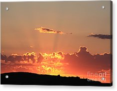 Acrylic Print featuring the photograph  Sunset by Edward R Wisell