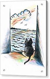 Cat's- Sweet View Acrylic Print