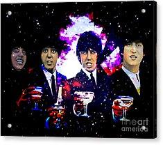 The Beatles Acrylic Print by Andrzej Szczerski
