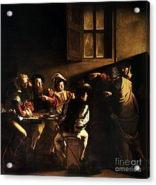 Acrylic Print featuring the painting  The Calling Of Saint Matthew by Caravaggio