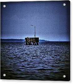 Acrylic Print featuring the photograph  The Dock Of Loneliness by Jouko Lehto