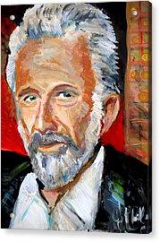 The Most Interesting Man In The World Acrylic Print by Jon Baldwin  Art