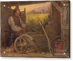 The Old Gardener Acrylic Print by Celestial Images
