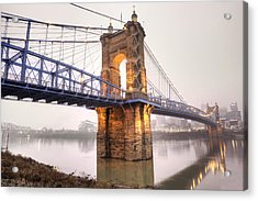 The Roebling Bridge Acrylic Print