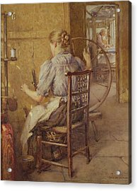The Spinning Wheel  Acrylic Print by Frederick William Jackson