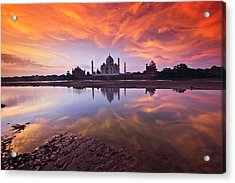 .: The Taj :. Acrylic Print by Photograph By Ashique