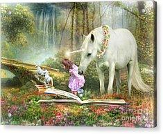 The Unicorn Book Of Magic Acrylic Print