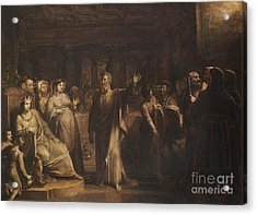 Title Study For Belshazzars Feast Acrylic Print