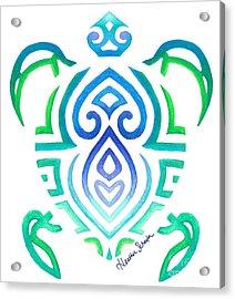 Tribal Turtle Acrylic Print