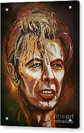 Acrylic Print featuring the painting  Tribute To David by Andrzej Szczerski