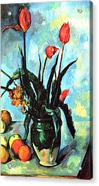 Tulips In A Vase Acrylic Print