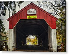 Uhlerstown Covered Bridge Iv Acrylic Print