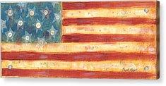 U.s. Flag Vintage Acrylic Print
