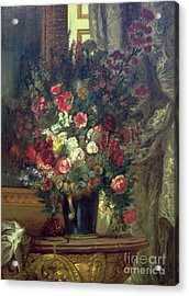 Vase Of Flowers On A Console Acrylic Print