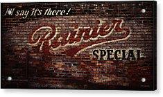 Vintage Rainier Sign Acrylic Print by DMSprouse Art