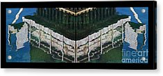 Acrylic Print featuring the photograph  Water Reflection Twofold by Heiko Koehrer-Wagner