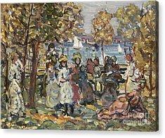 Waterside Park Scene Acrylic Print