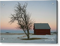 Winter In Rural America Acrylic Print