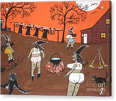 Witches Wash Day Acrylic Print
