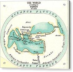 World Map, C1000 B.c Acrylic Print by Granger