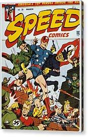 World War II: Comic Book Acrylic Print by Granger