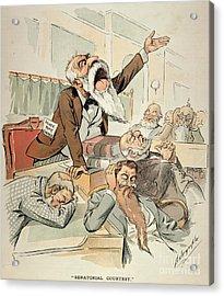 Senate Cartoon,free Silver Acrylic Print by Granger