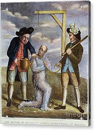 Tarring & Feathering, 1774 Acrylic Print by Granger