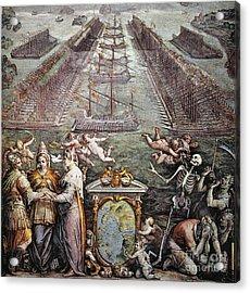 Battle Of Lepanto, 1571 Acrylic Print by Granger