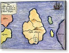 Map Of Atlantis, 1678 Acrylic Print by Granger