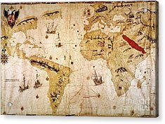 Vespucci's World Map, 1526 Acrylic Print by Granger