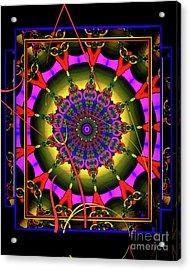 002 - Mandala Acrylic Print by Mimulux patricia no No