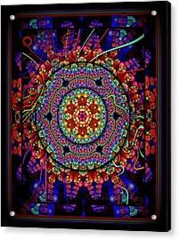 003 - Mandala Acrylic Print by Mimulux patricia no No