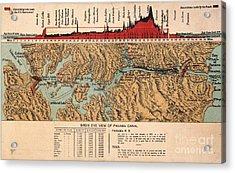 Card: Panama Canal, 1914 Acrylic Print by Granger