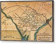 Underground Railroad Map Acrylic Print by Granger